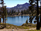 Dramatic view of Sierra Buttes from Deer Lake